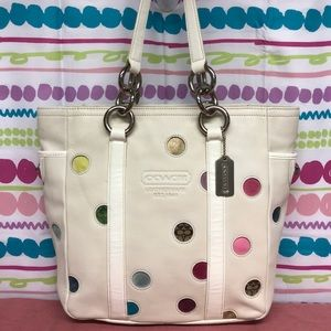 RARE COACH LIMITED EDITION POLKA DOT LUNCH TOTE